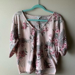 Pink floral top - LUCKY BRAND